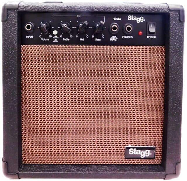 amplificatore per chitarra acustica stagg 10 aa eu