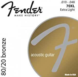 corde per chitarra acustica fender 0073