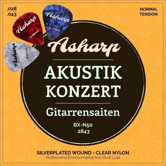 corde per chitarra classica asharp