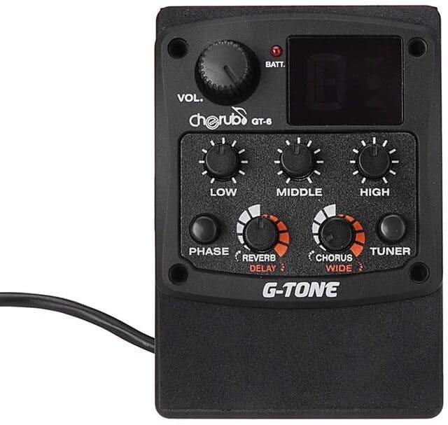 preamplificatori per chitarra acustica cherubinio g-tone gt6