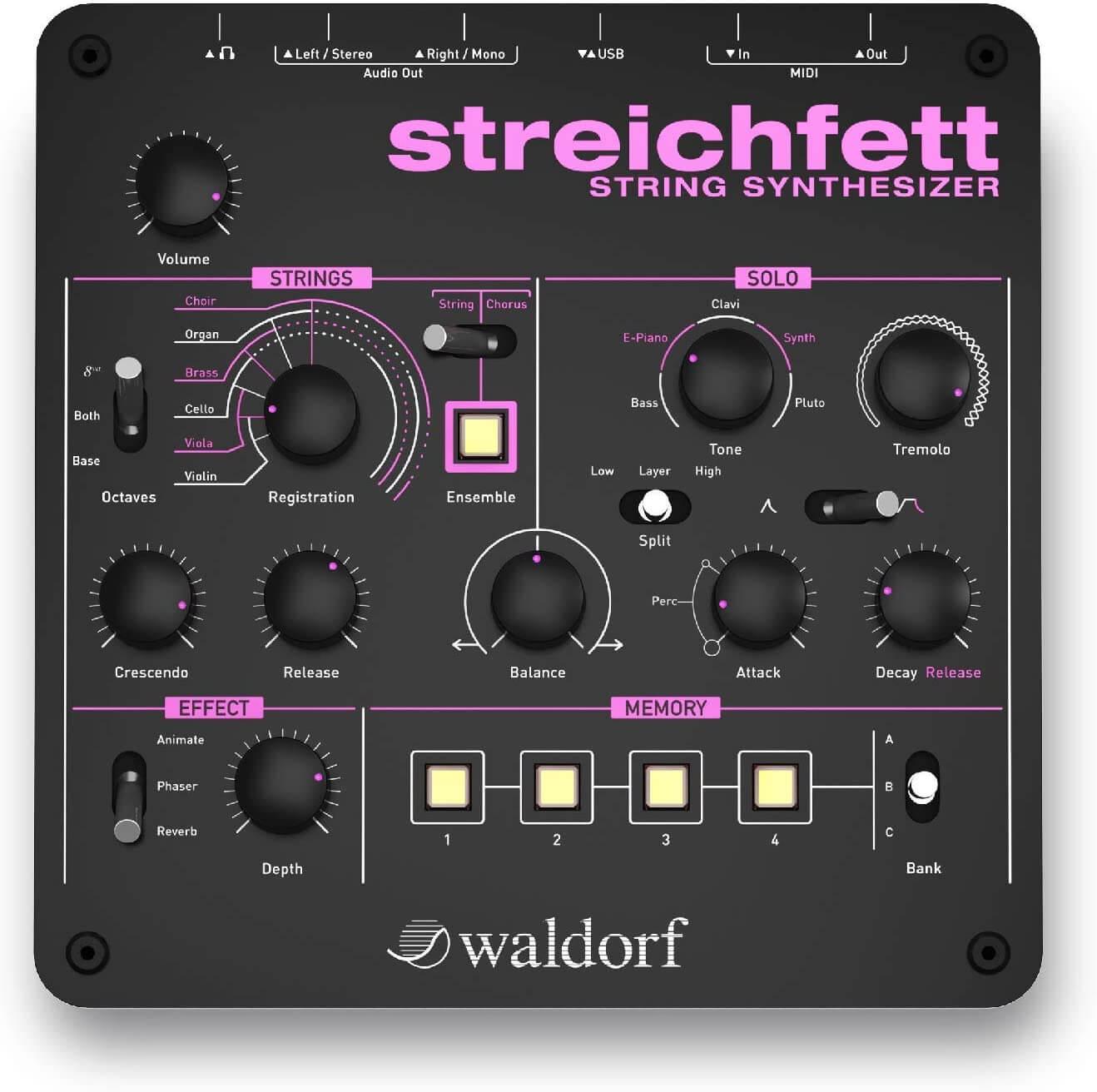 sintetizzatore Waldorf Streichfett