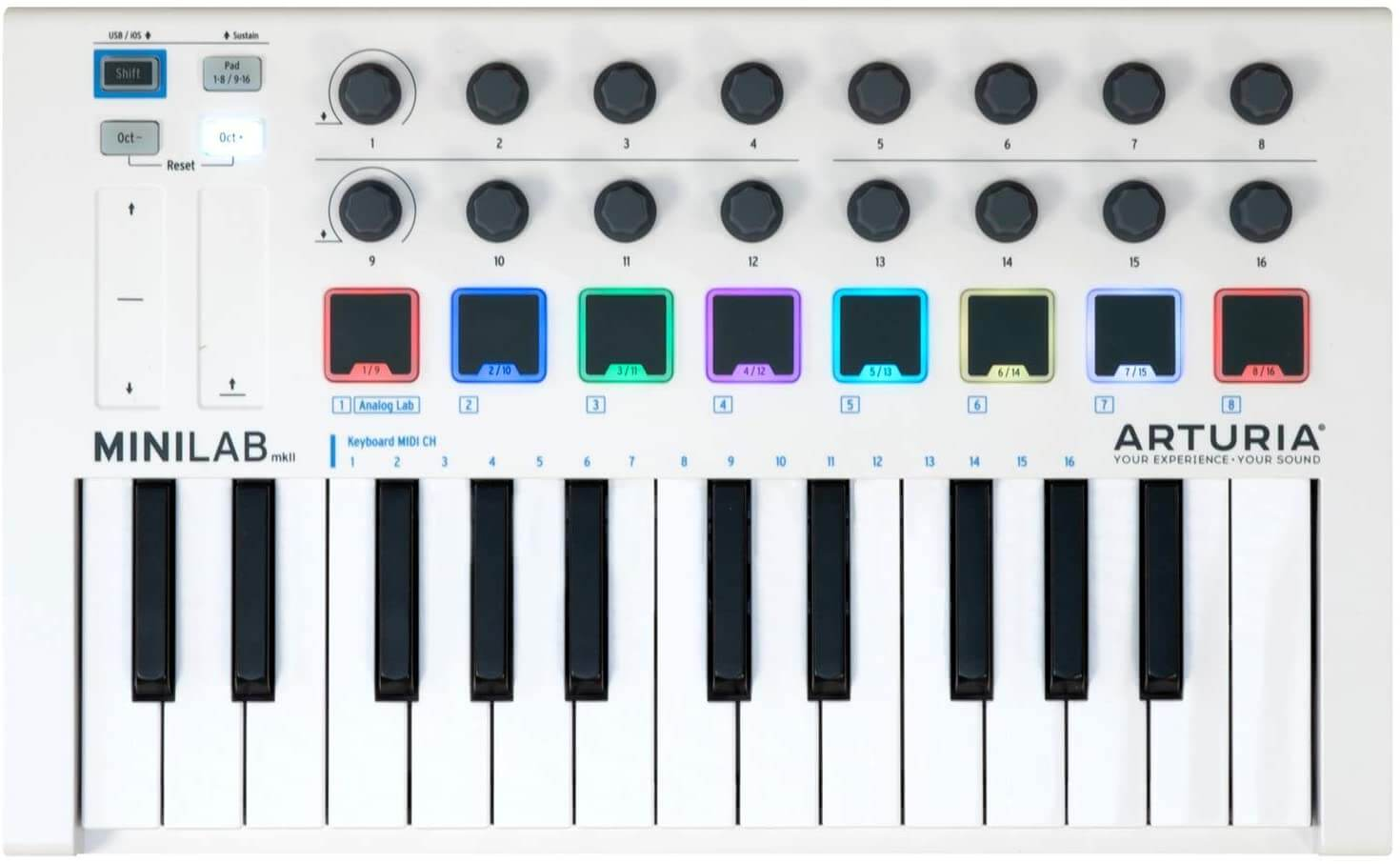 tastiera midi arturia minilab mk2